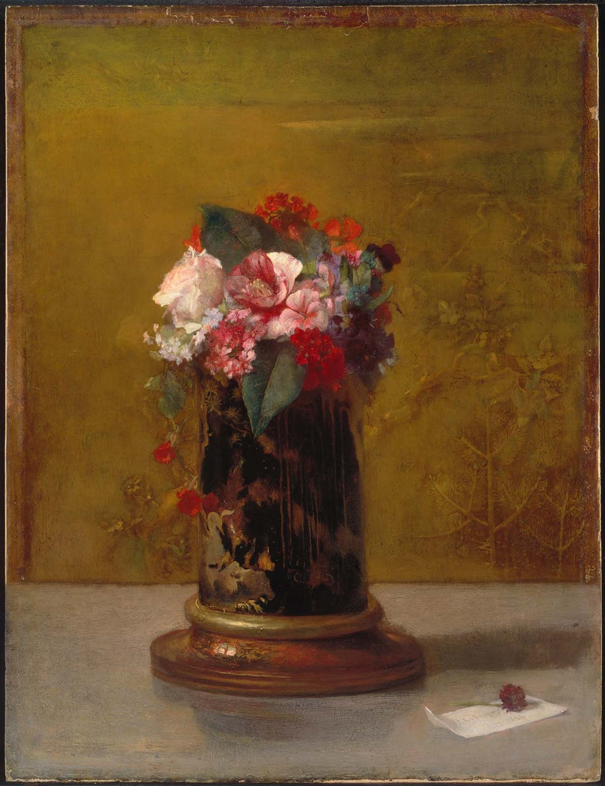 Flowers in a Japanese Vase by John LaFarge