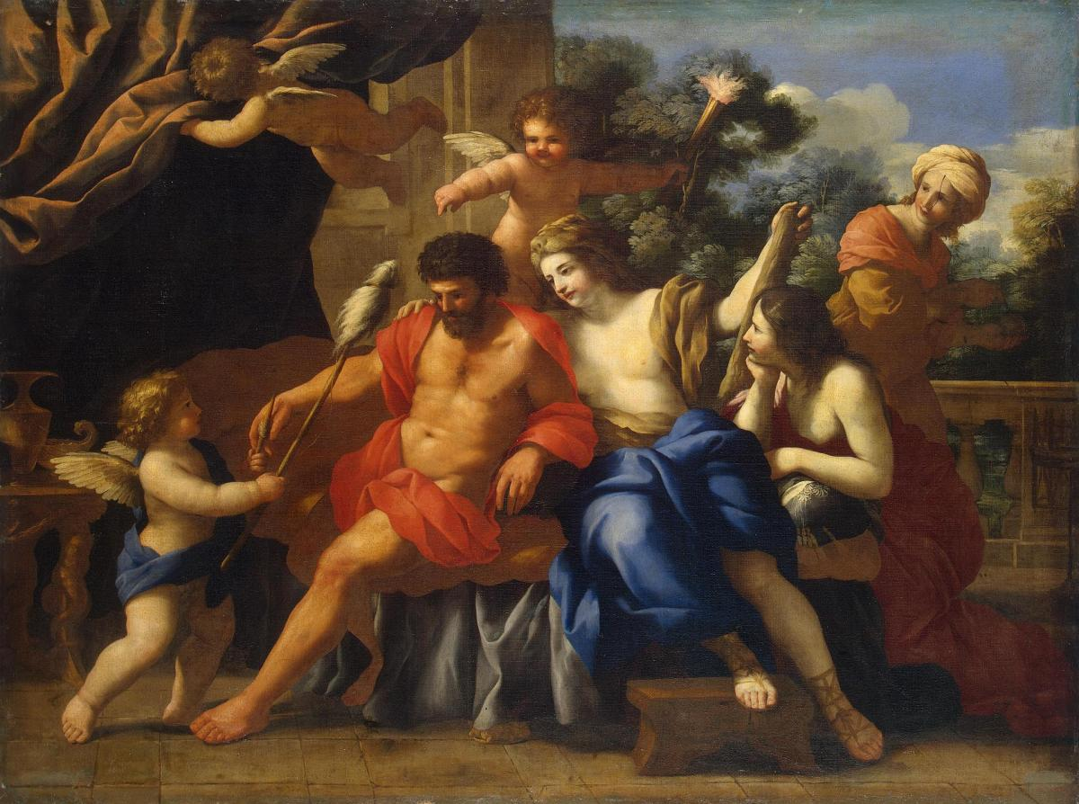 Hercules and Omphale by Giovanni Francesco Romanelli