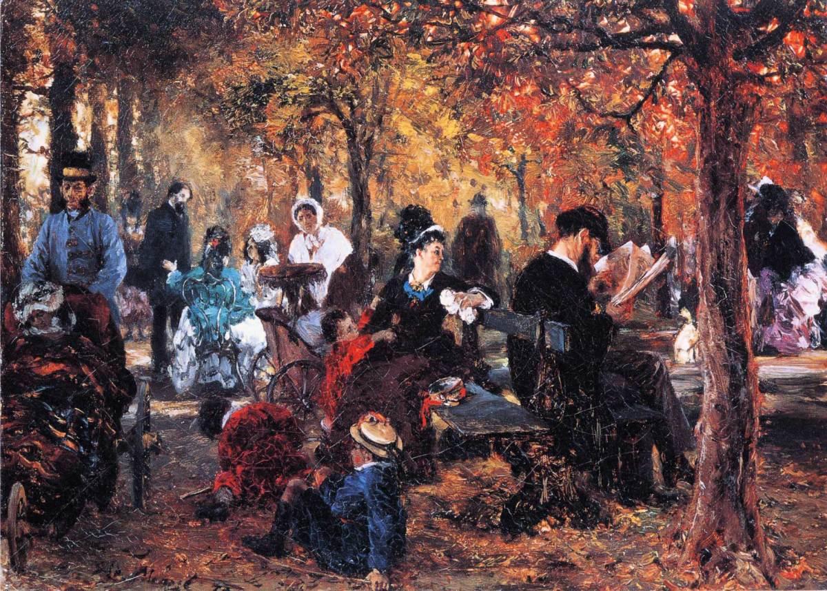 In the Luxembourg Gardens by Adolph von Menzel