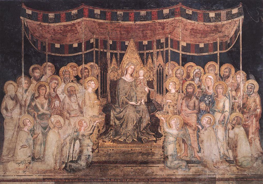 Maestà (Madonna with Angels and Saints) by Simone Martini
