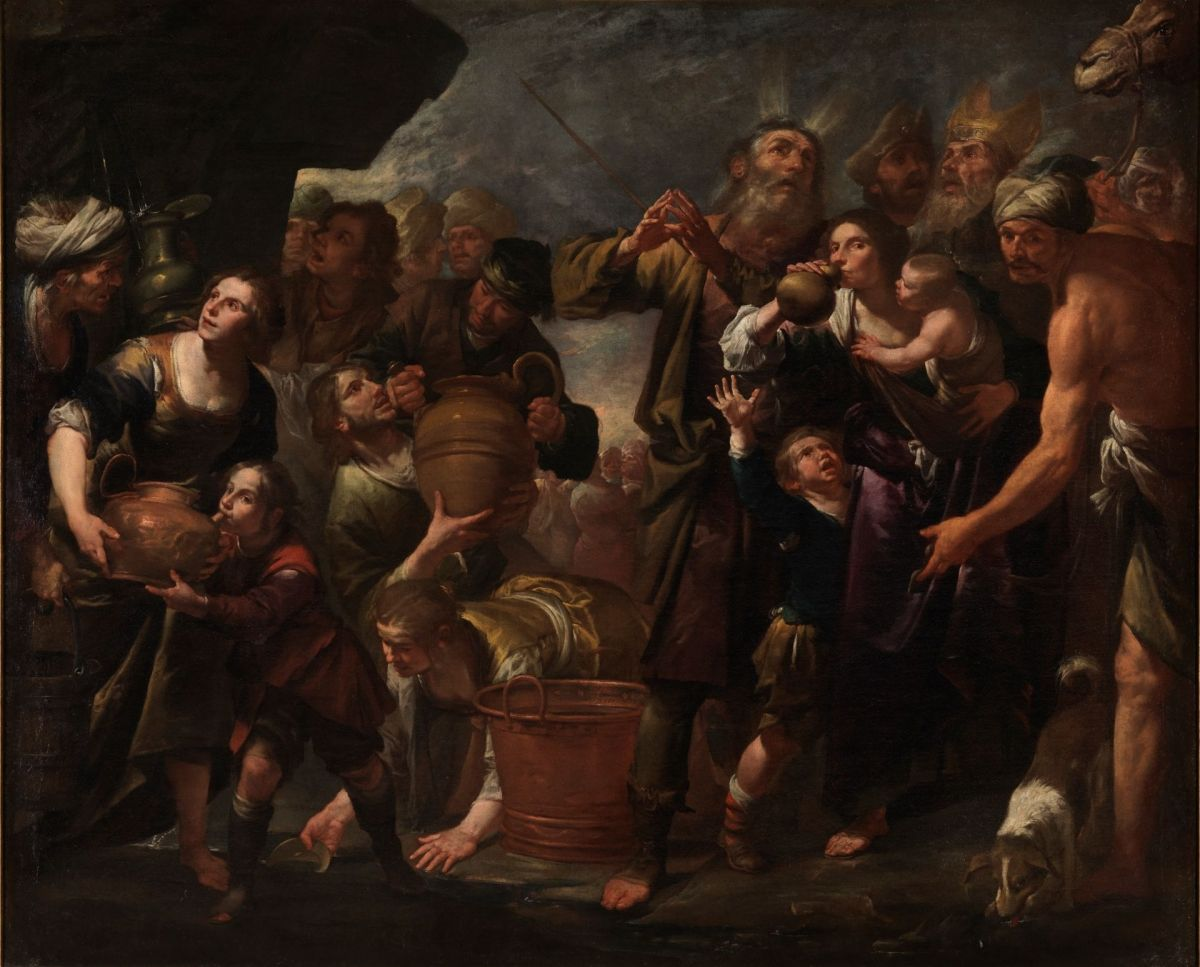 Moses striking the Water from the Rock by Gioacchino Assereto