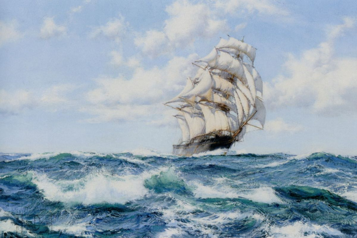 Onward the Clippers Ship by Montague Dawson