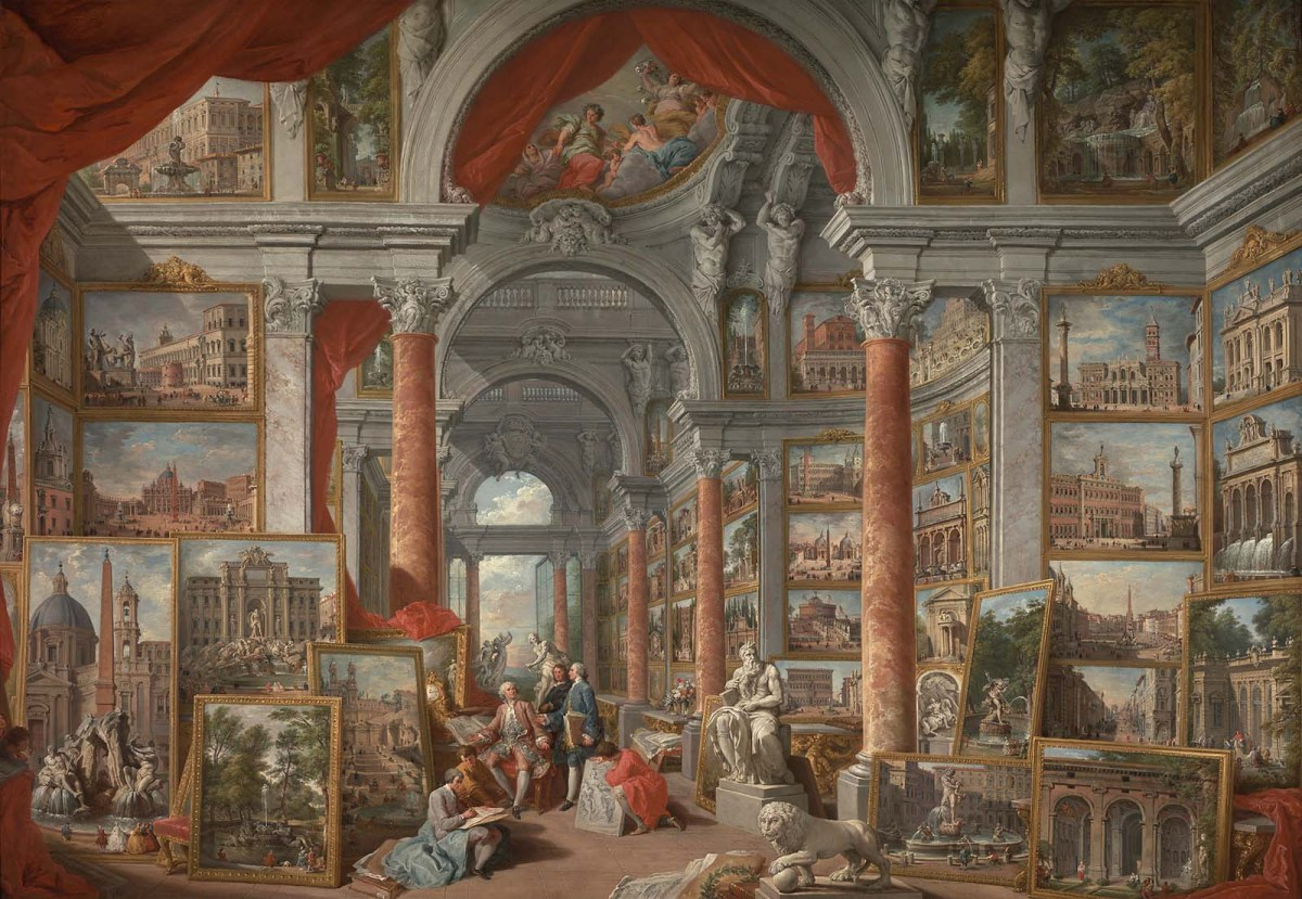 Picture Gallery with Views of Modern Rome by Giovanni Paolo Pannini
