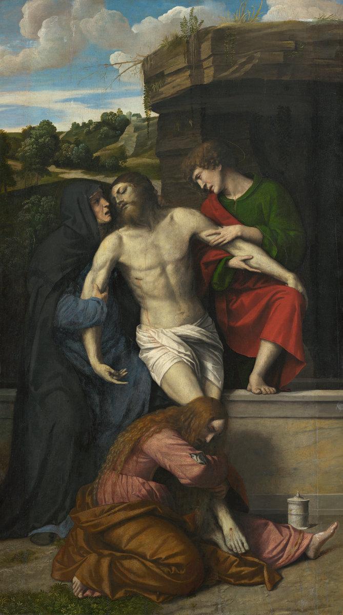 Pietà by Moretto Da Brescia