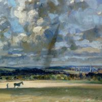 Ploughing the Furrow by Edward Seago