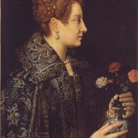 Portrait of a Young Woman in Profile by Sofonisba Anguissola