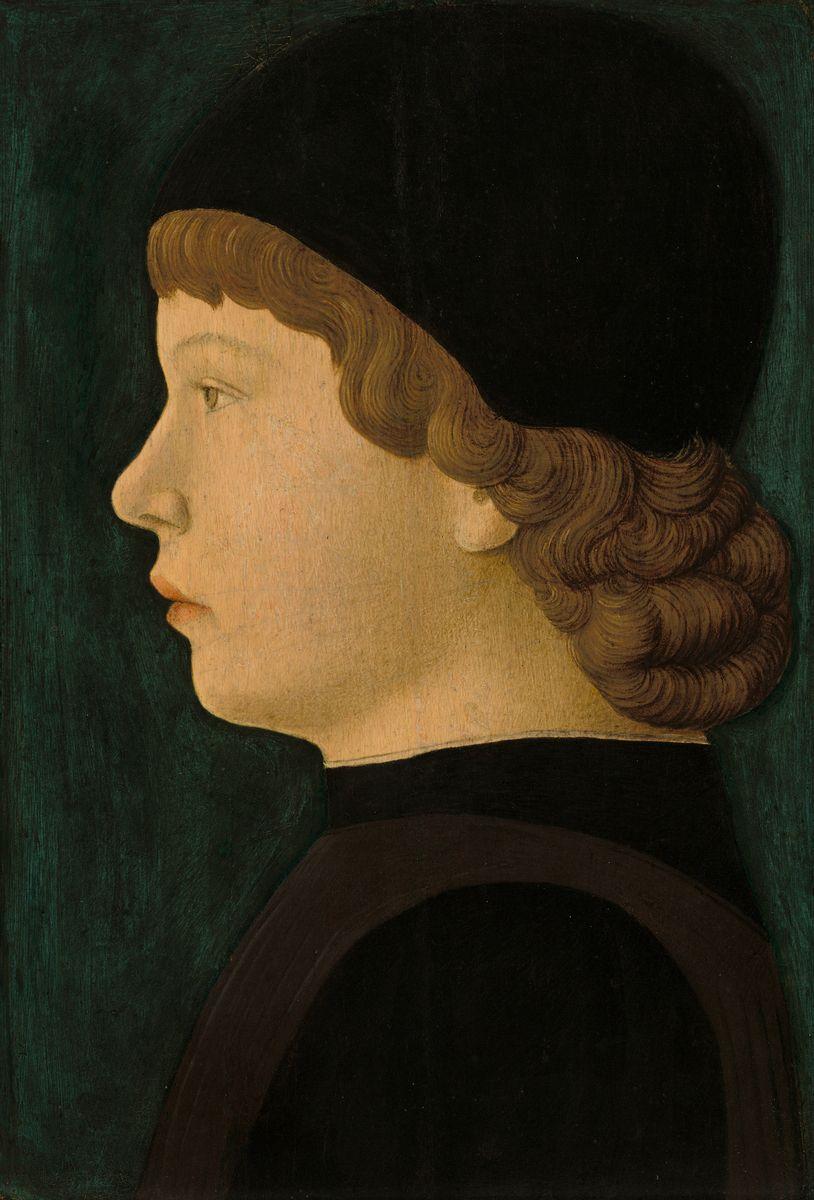 Profile Portrait of a Boy by Jacopo Bellini