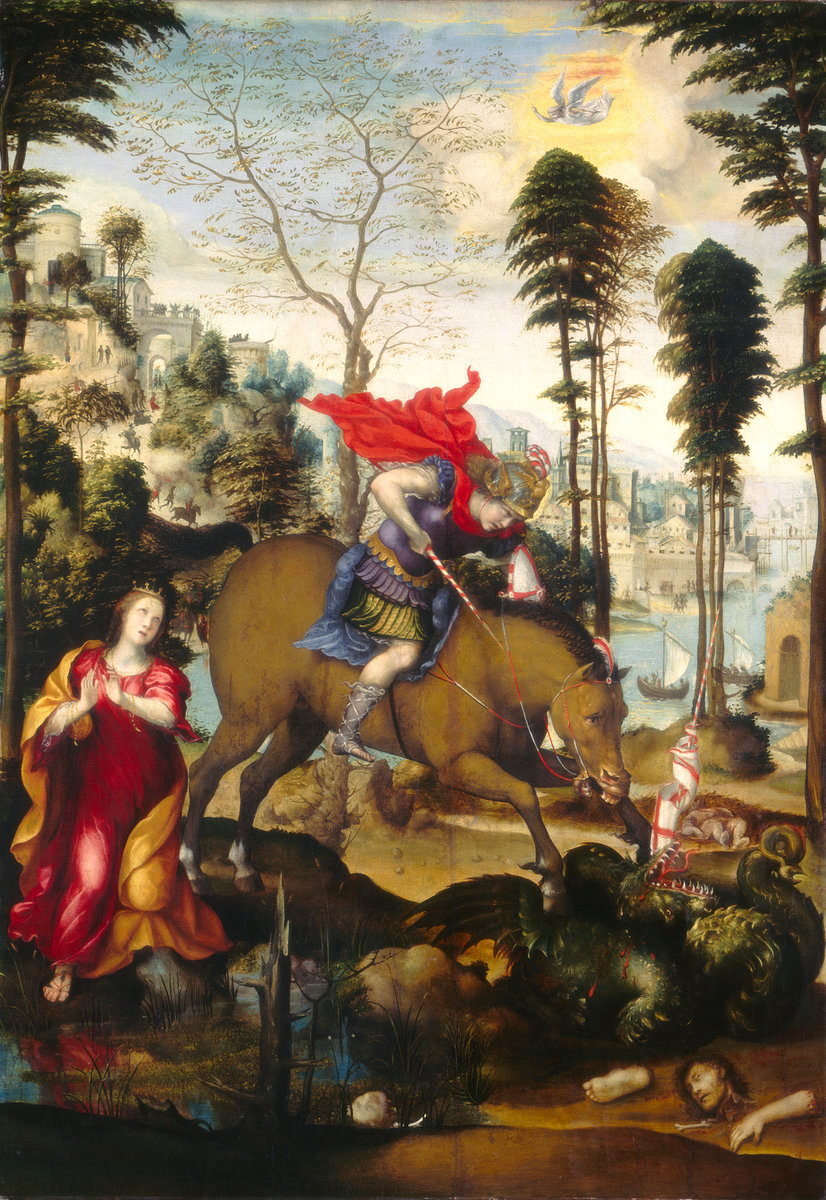 St. George and the Dragon by Il Sodoma
