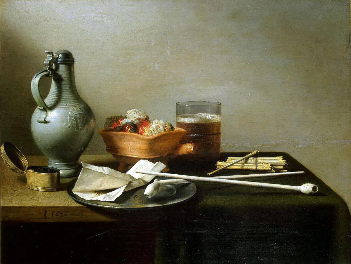 Still Life with Clay Pipes by Pieter Claesz
