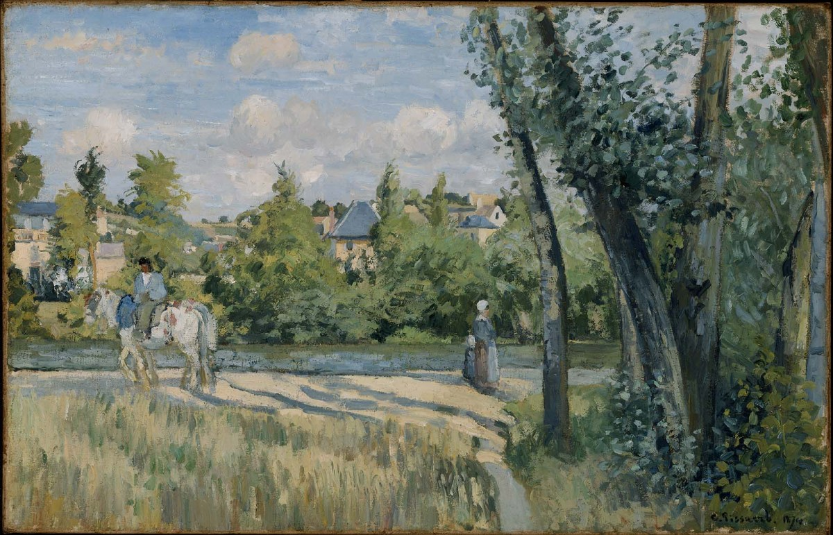 Sunlight on the Road Pontoise by Camille Pissarro