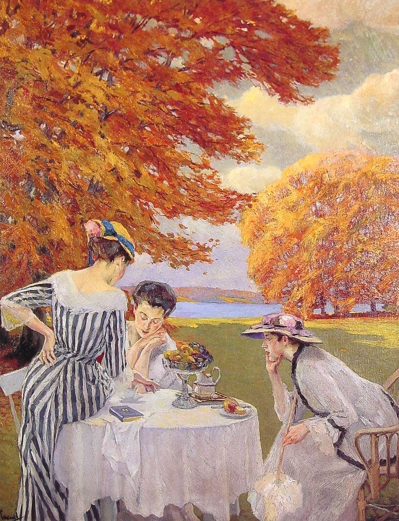 Tea in the Park by Edward Cucuel