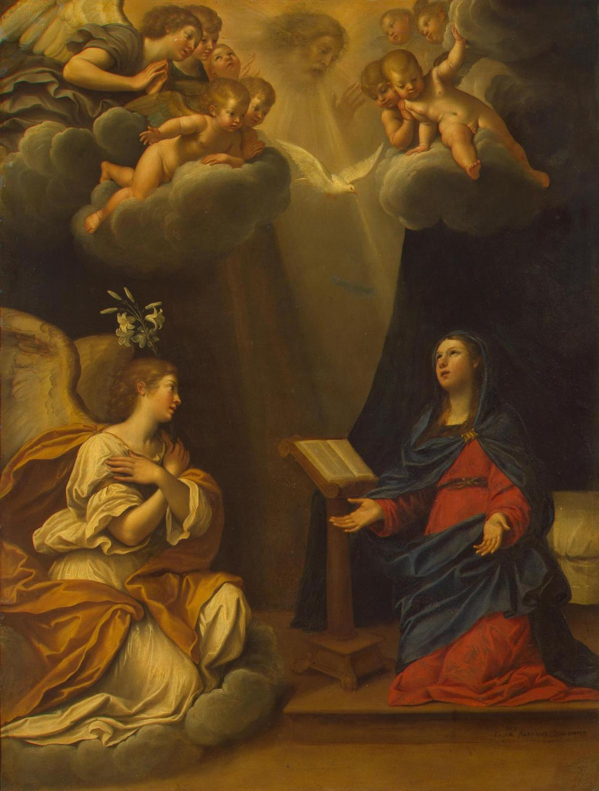 The Annunciation by Francesco Albani