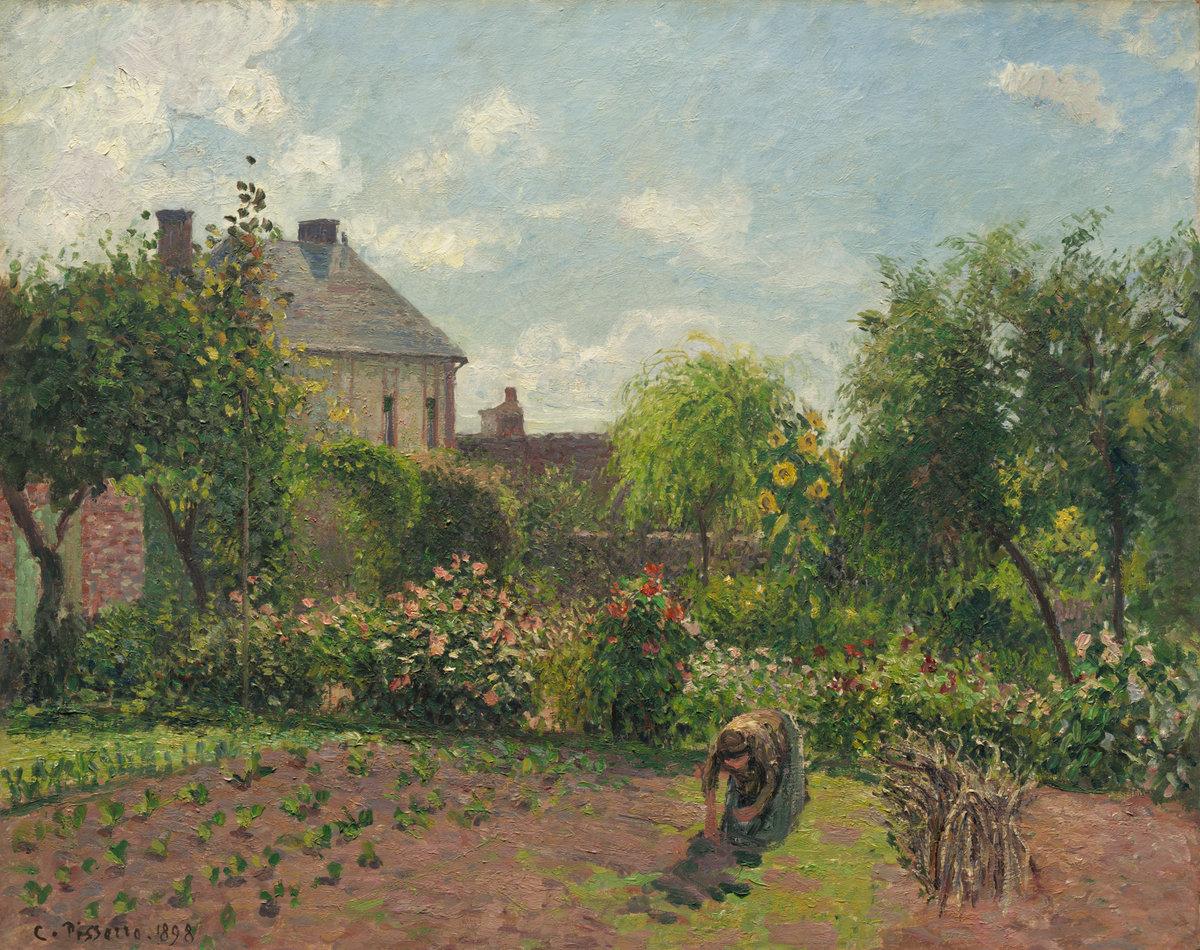 The Artist's Garden at Eragny by Camille Pissarro