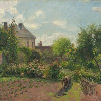 The Artist's Garden at Eragny by Camille Pissarro