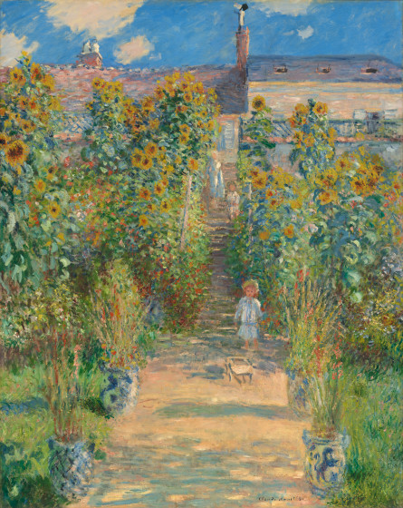 The Artist's Garden at Vétheuil by Claude Monet