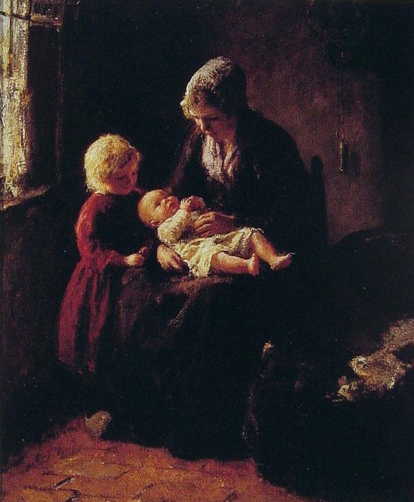 The New Baby by Bernard Jean Corneille Pothast