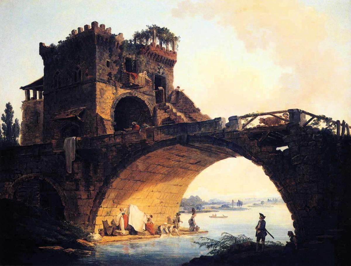 The Old Bridge by Hubert Robert