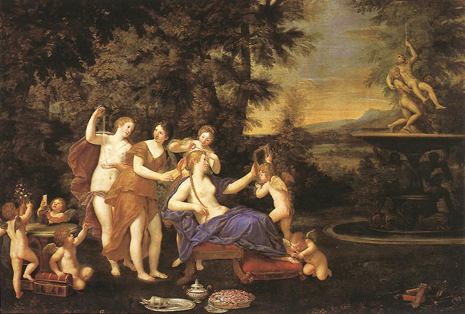 Venus Attended by Nymphs and Cupids by Francesco Albani