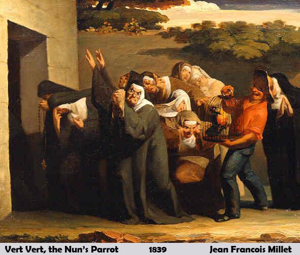 Vert Vert, the Nun's Parrot by Jean-François Millet