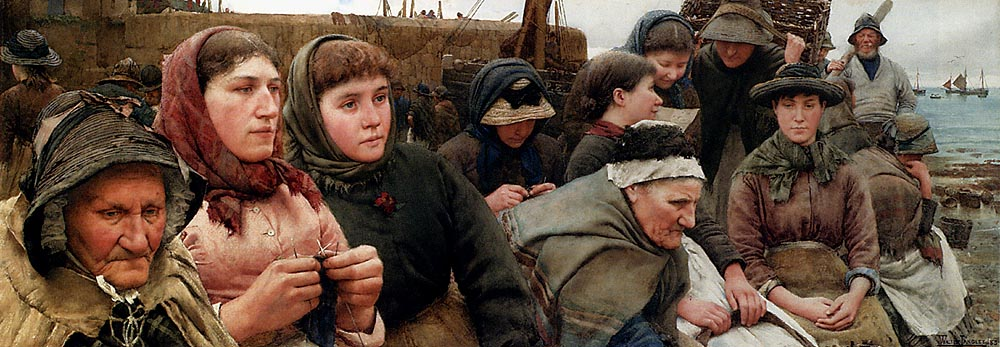 Waiting For The Boats by Walter Langley