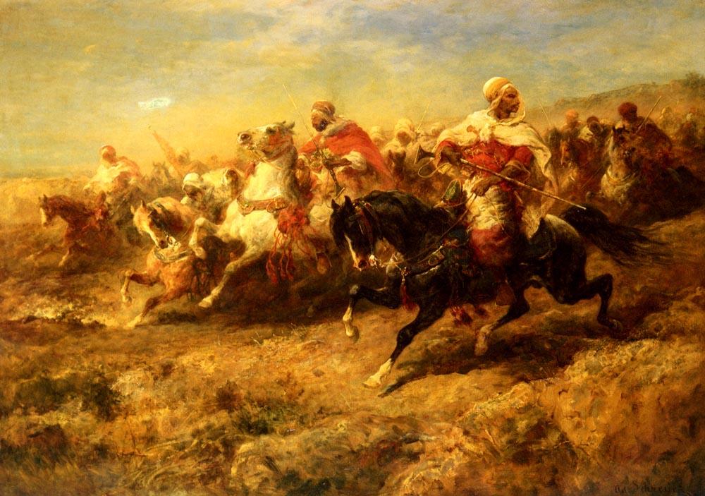 Arabian Horsemen by Adolf Schreyer