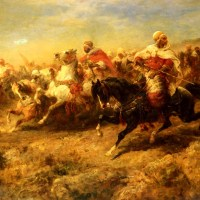 Arabian Horsemen by Adolf Schreyer