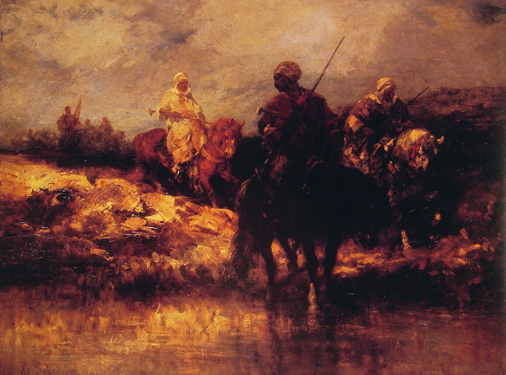 Arabs on Horseback by Adolf Schreyer