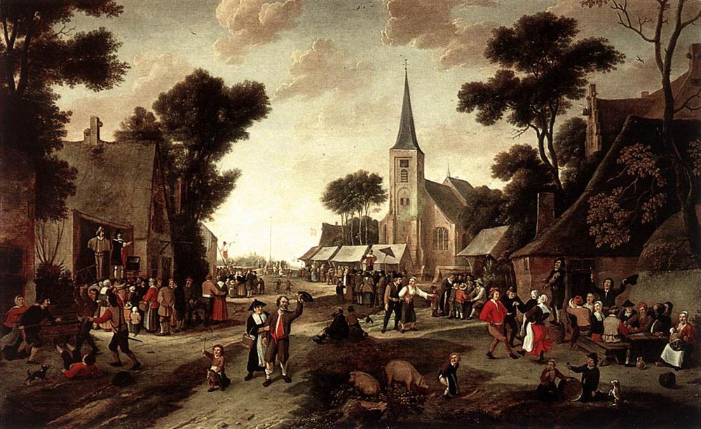 The Fair by Egbert van der Poel