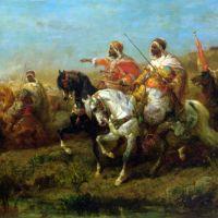 The Skirmish by Adolf Schreyer