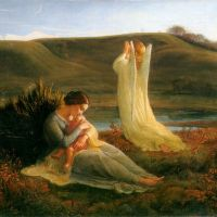 Le Poème de l'âme L'Ange et la mère by Anne-Francois-Louis Janmot