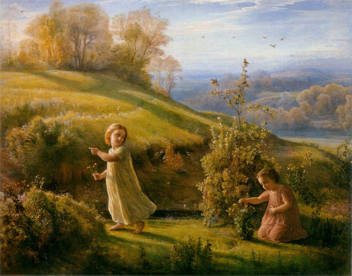 Le Poeme de lame Le Printemps by Anne Francois Louis Janmot
