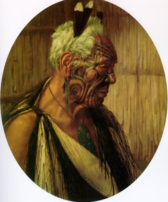 A Noble Relic of a Noble Race: Wharekauri Tahuna by Charles Goldie