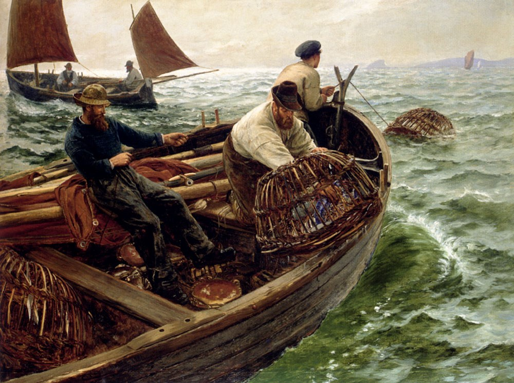 Lands End Crabbers by Charles Napier Hemy