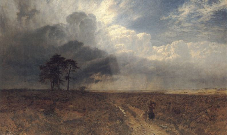 On Holmbury Hill by George Vicat Cole