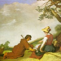 Shepherd and Sherpherdess by Abraham Bloemaert