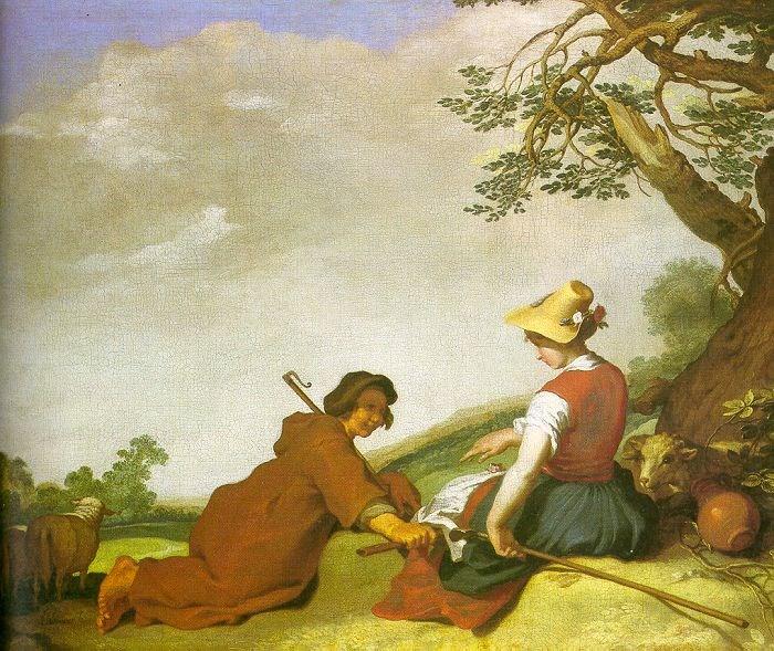 Shepherd and Sherpherdess by Abraham Bloemaert