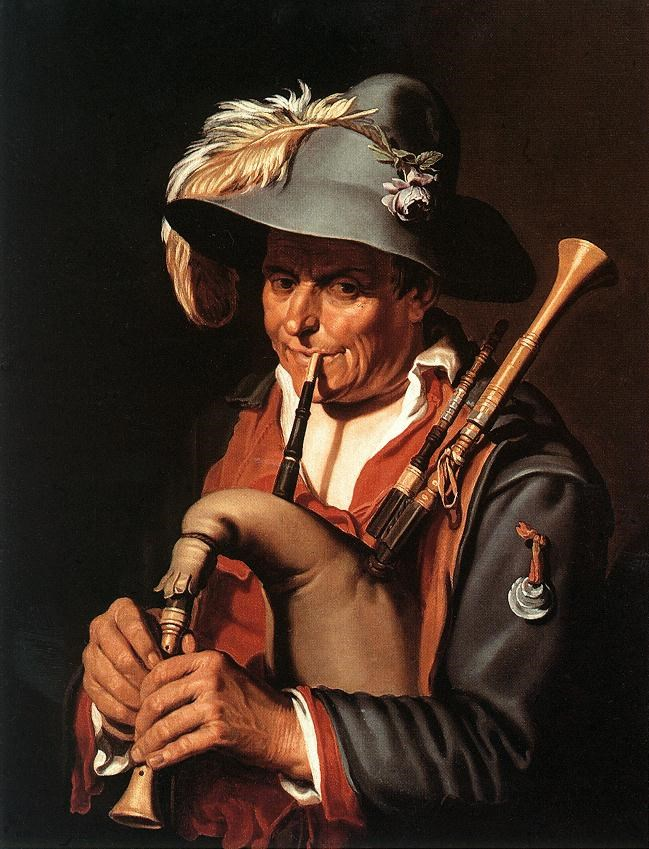 The Bagpiper by Abraham Bloemaert
