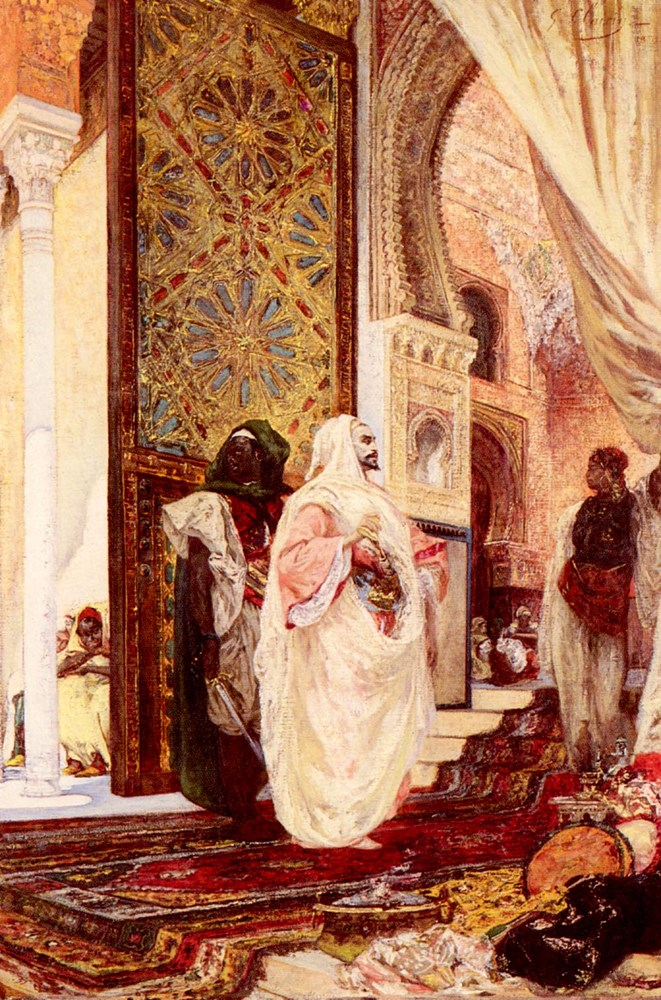 Entering The Harem by Georges Jules Victor Clairin