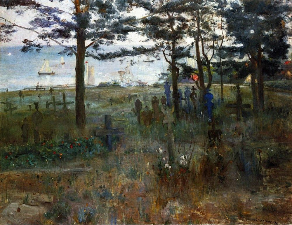 Fishermens Cemetery at Nidden by Lovis Corinth