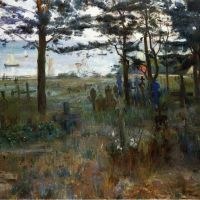 Fishermen's Cemetery at Nidden by Lovis Corinth