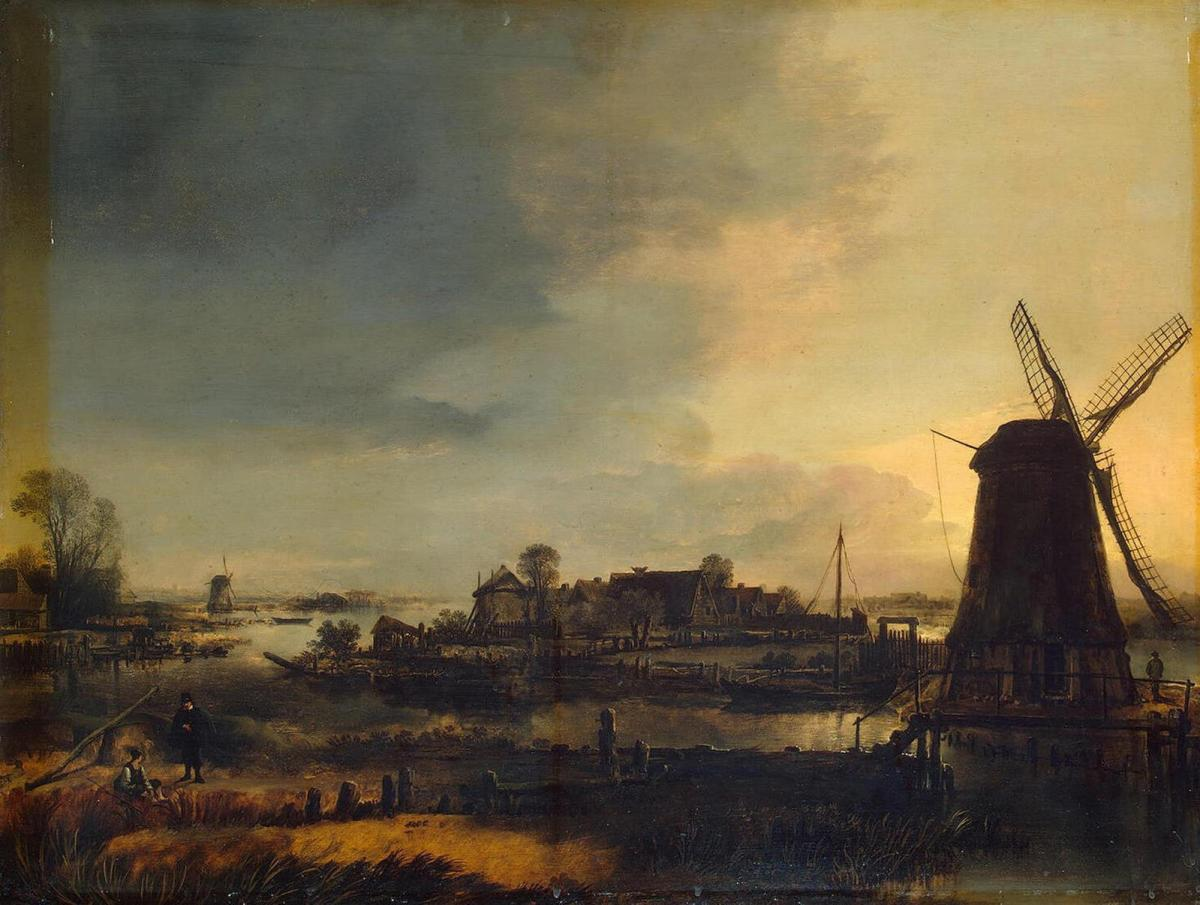 Landscape with Windmill by Aert van der Neer