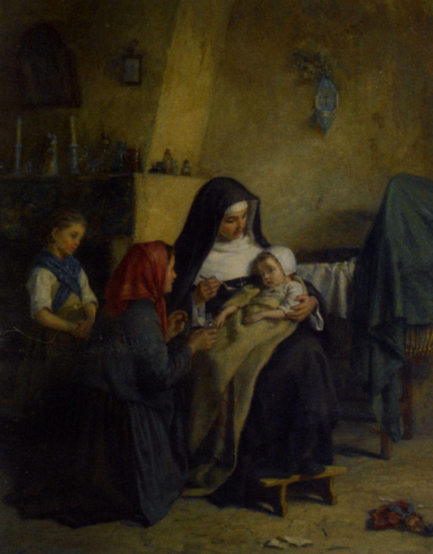 Le Repas du Soir by Edouard Frere