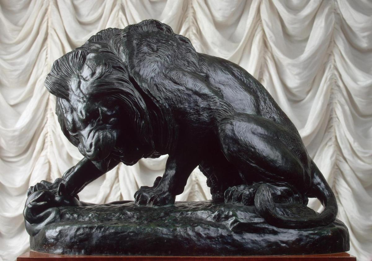 Lion and Serpent by Antoine Louis Barye