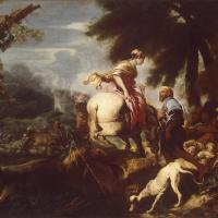 Meeting of Isaac and Rebecca by Giovanni Benedetto Castiglione