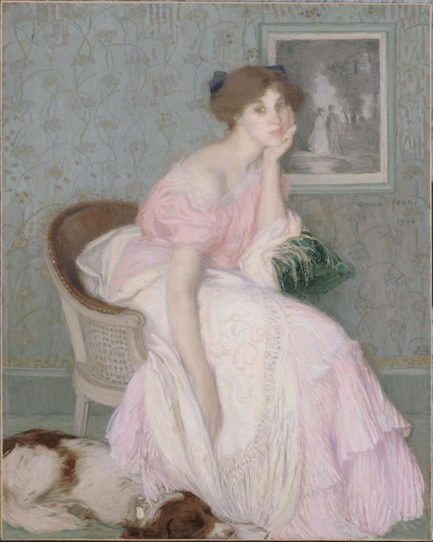 Miss Ella Carmichaël by Edmond Francois Aman-Jean