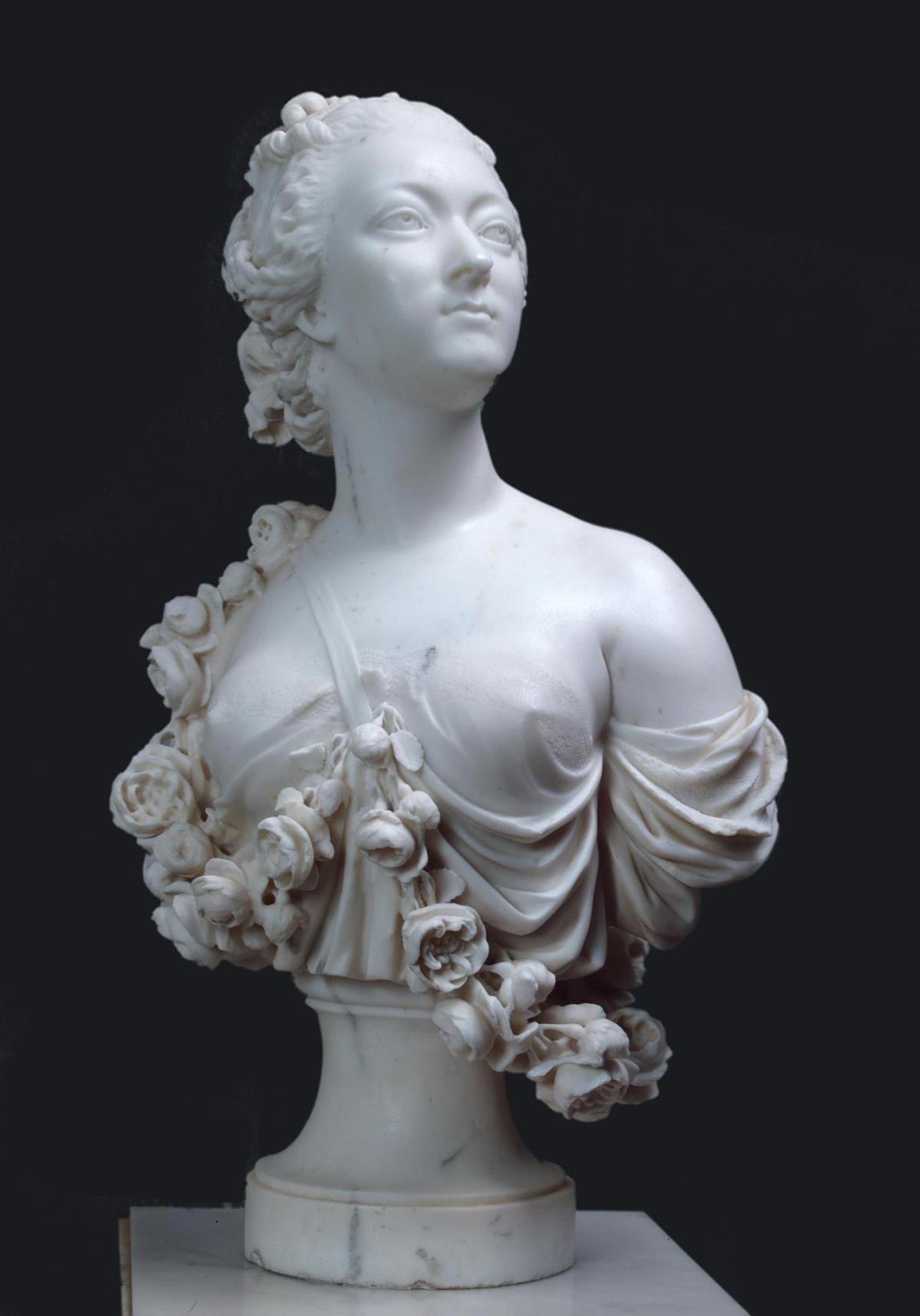 Portrait of Madam Du barry by Jean-Jacques Caffieri