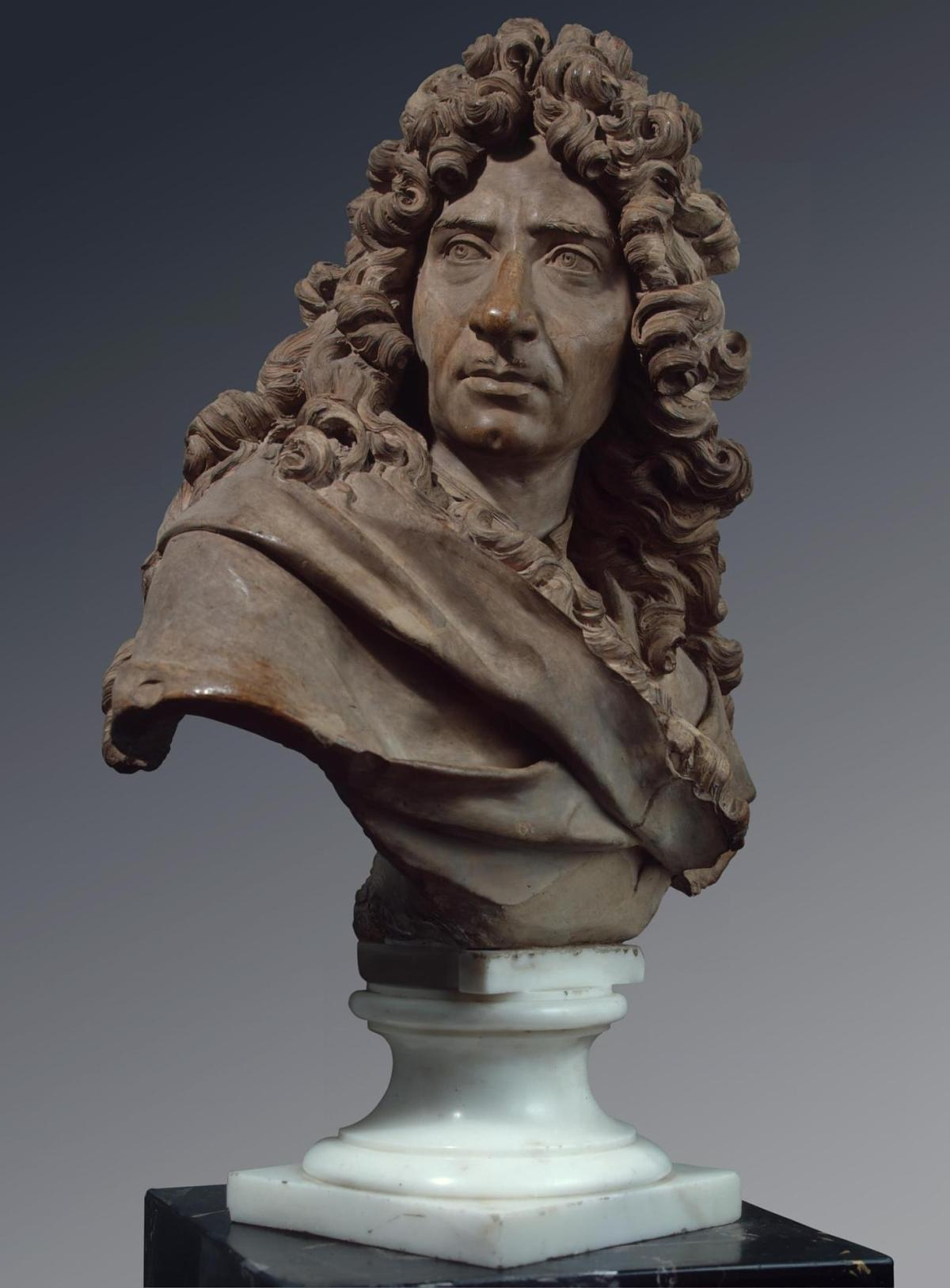 Portrait of Mignard by Antoine Coysevox