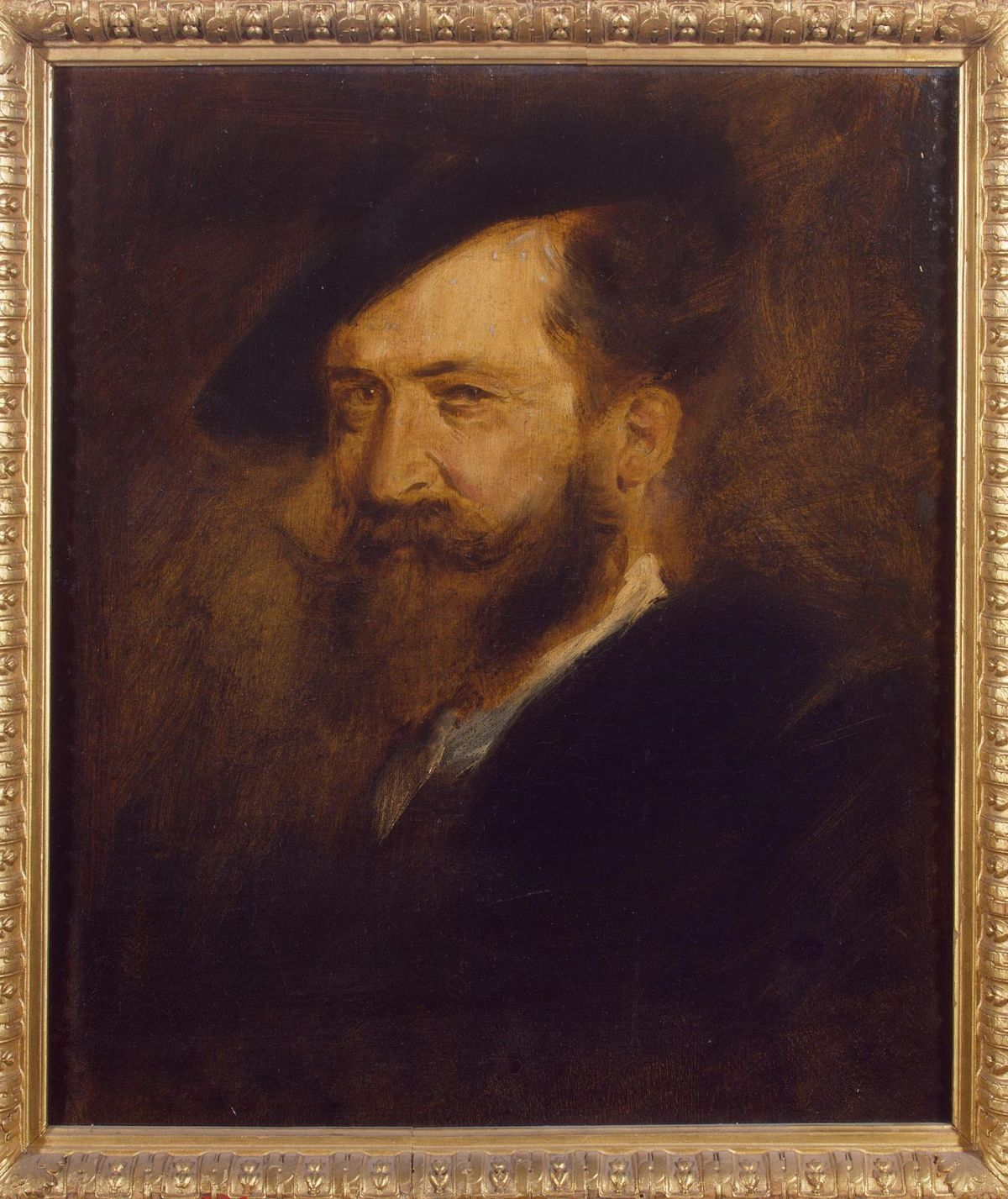 Portrait of Wilhelm Busch by Franz von Lenbach