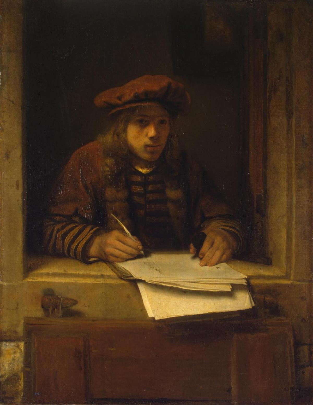 Self­Portrait by Samuel van Hoogstraten