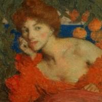 Sous les Orangers (Femme à Amalfi) by Edmond Francois Aman Jean